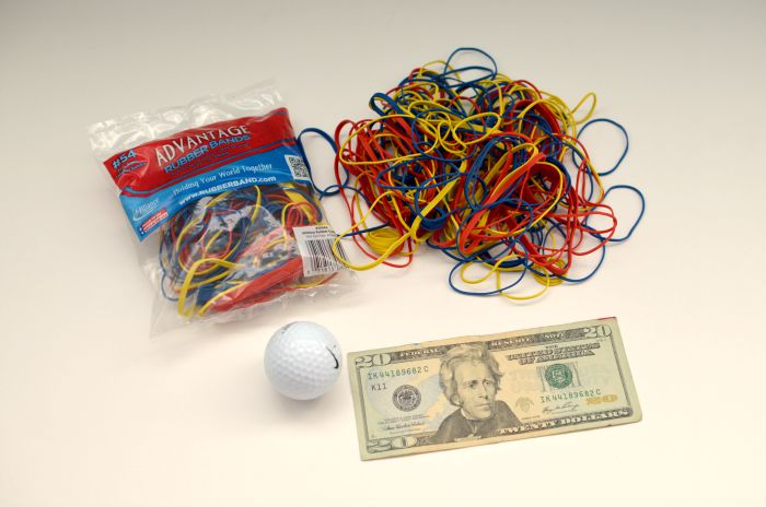 how to start a rubber band ball