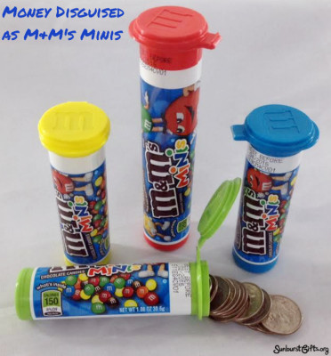 Money Disguished as M&M's Minis