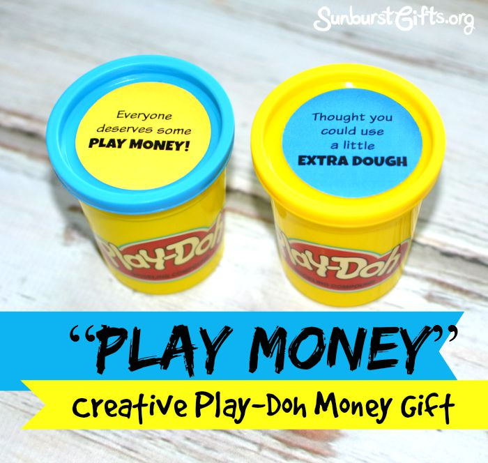 Play money creative play doh money gift thoughtful gifts cash money creative play doh money gift negle Choice Image