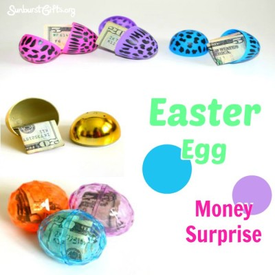 Easter egg money surprise thoughtful gifts sunburst easter egg money surprise cash negle Image collections
