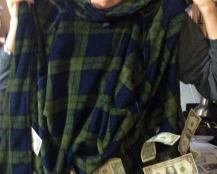 money-robe-dollar-bills-silver-lining-thoughtful-gift-idea