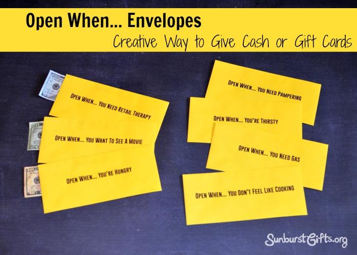 Brand-new Open When Envelopes - Thoughtful Gifts | Sunburst  JY27