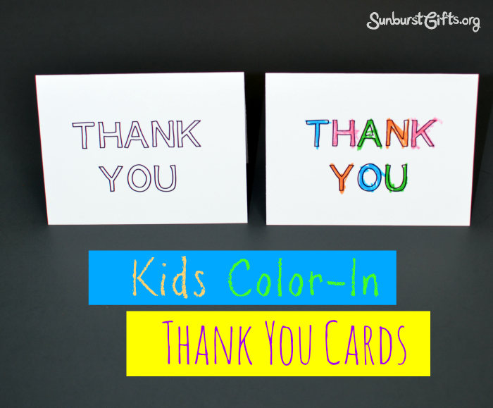 kids color in thank you cards toddlers - Cards For Kids To Color
