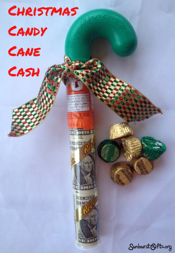 Christmas Candy Gifts.Christmas Candy Cane Cash Thoughtful Gifts Sunburst