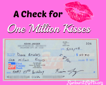 check-one-million-kisses-romantic-gift