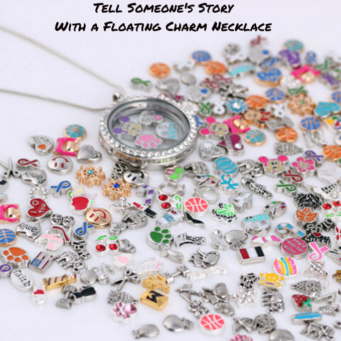 tell someone s story with a floating charm locket necklace