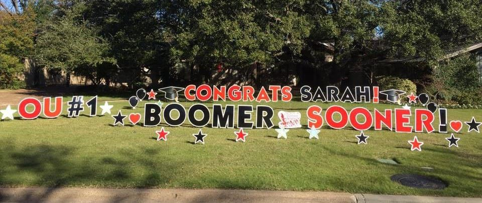 Announce big news with yard greeting signs thoughtful gifts graduation college yard greeting signs gift m4hsunfo