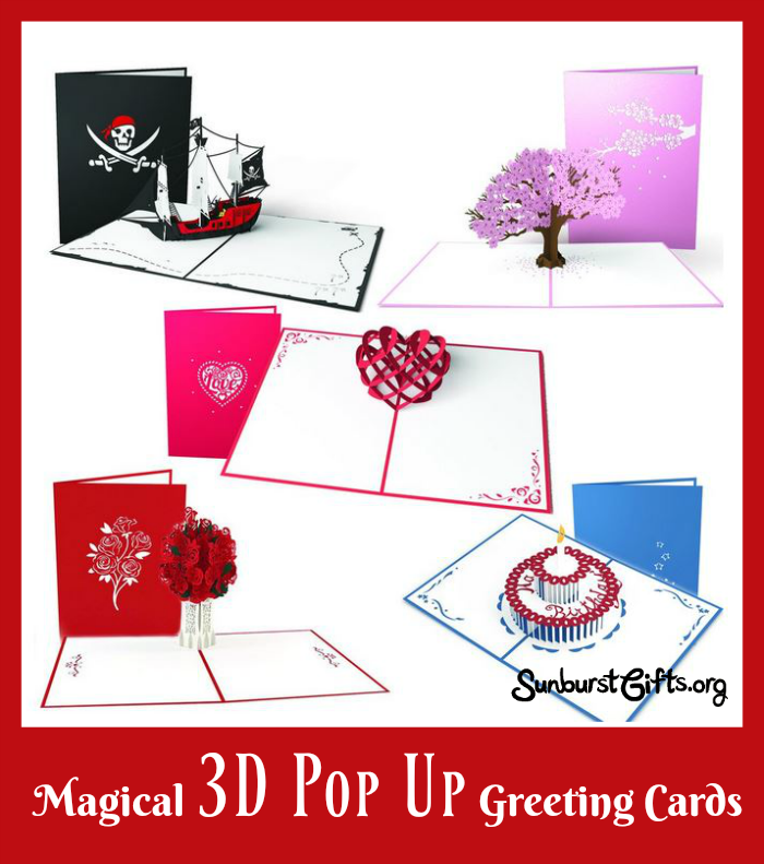 Magical 3d pop up greeting cards thoughtful gifts sunburst when you open one of these cards instead of seeing words you see the card magically come to life as it pops up into a unique design m4hsunfo