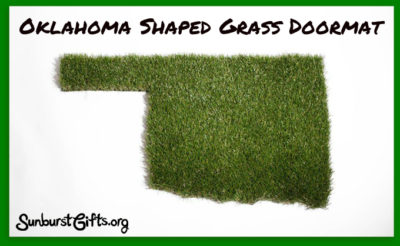 oklahoma-shaped-grass-door-mat-thoughtful-gift-idea