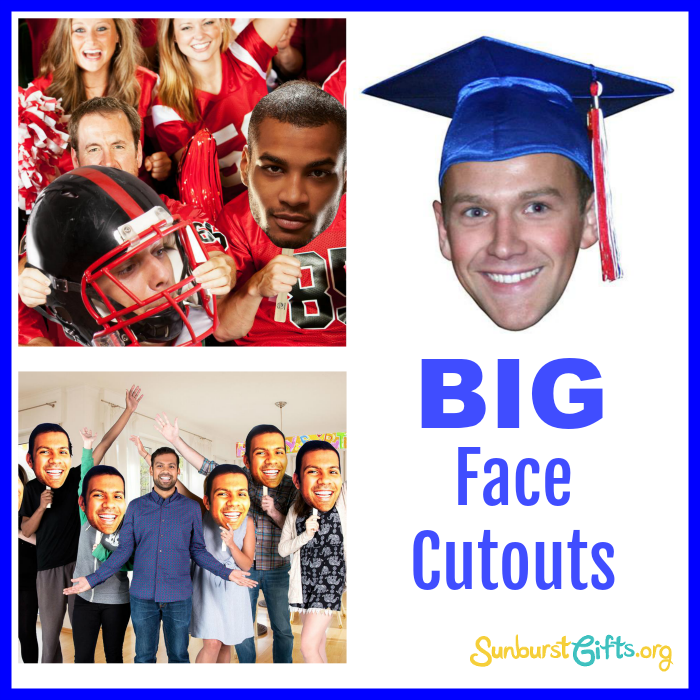 big face cutout for graduations parties thoughtful gifts