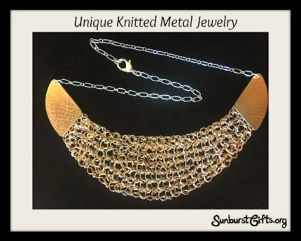 Unqiue Knitted Metal Necklace Jewelry Thoughtful Gift Idea